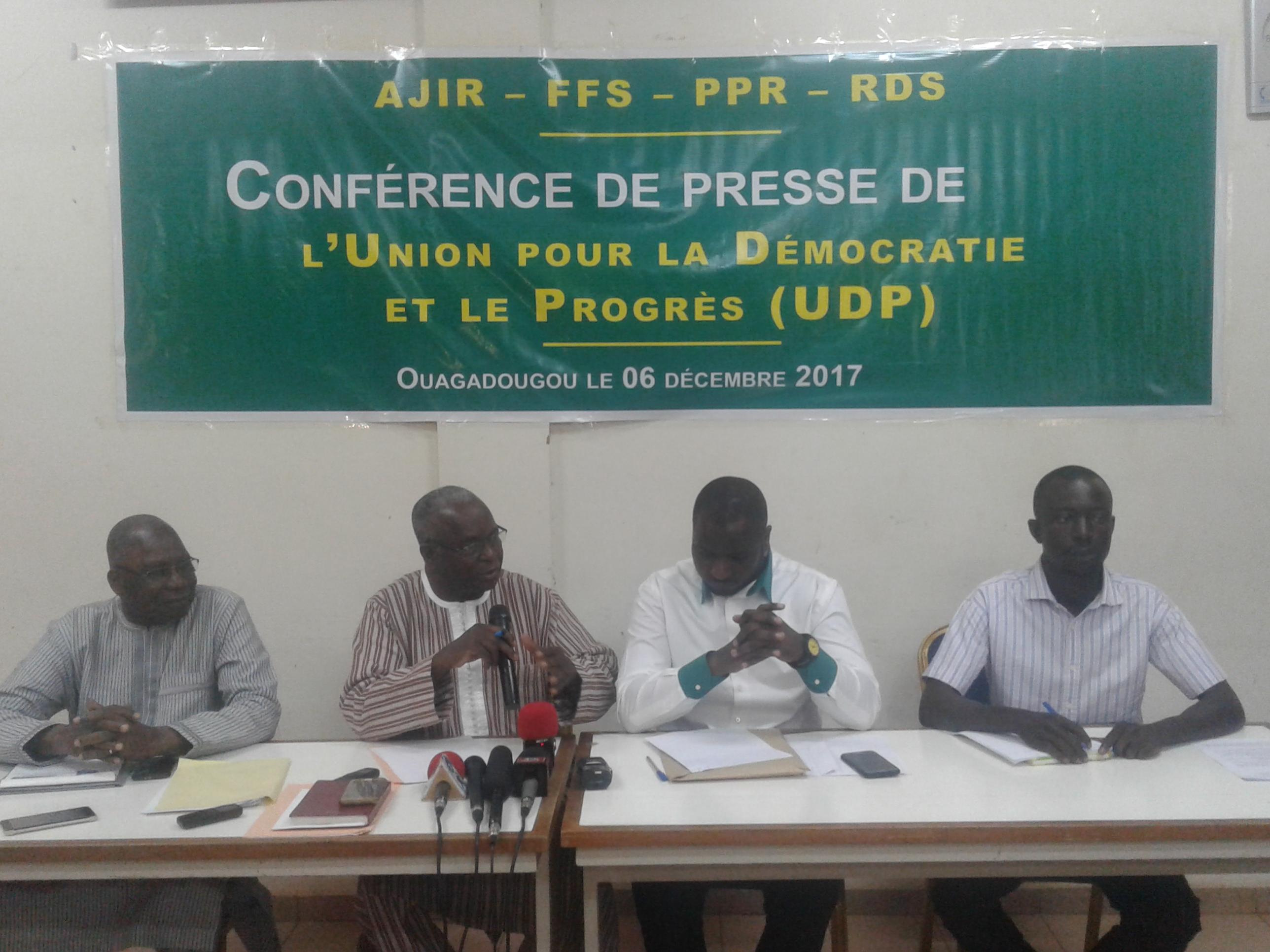Naissance de l'UDP : Du renfort pour la majorité présidentielle