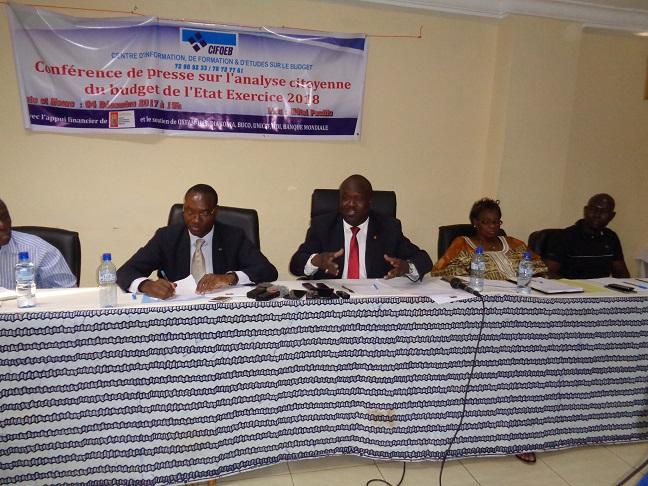 Budget de l'Etat, exercice 2018 : Le CIFOEB présente son analyse