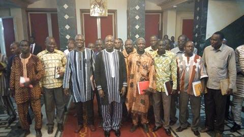 Rencontre gouvernement syndicat burkina 2018