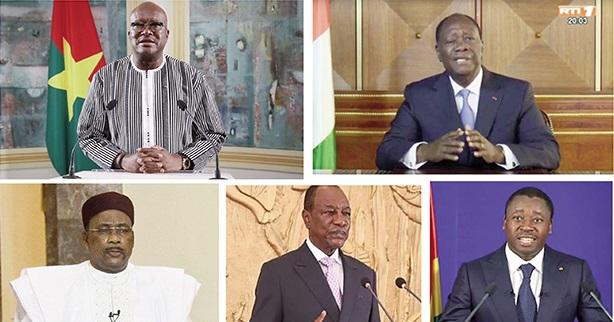Kaboré, Ouattara, Issoufou, Condé, Faure…: Des vœux 2020, à l'aune des désidératas sécuritaires et électoraux